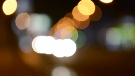 küresel : Shooting of night city streets. Out of focus.