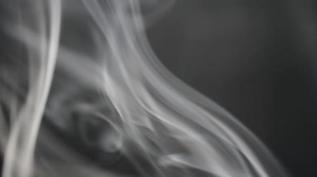 редактируемые : Smoke on a black background