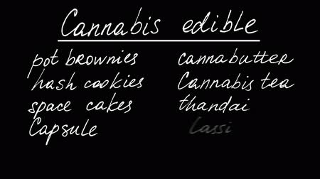 конопля : Cannabis edible. Animation on marijuana.