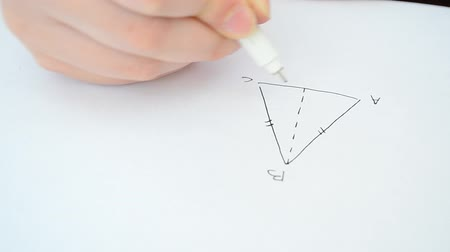 matematik : Triangle drawing, geometry. Corners and triangle.