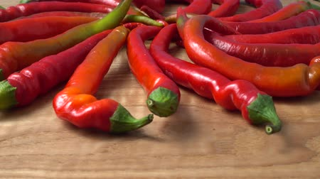 hot peppers : Red chilli, pepper.