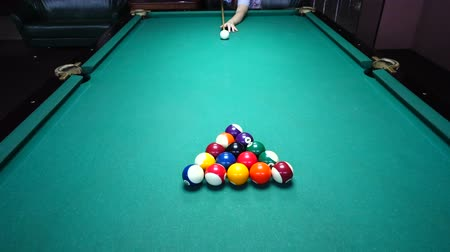 テーブルクロス : Game billiards. Process of a game.