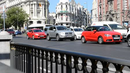 espana : MADRID, SPAIN - AUGUST 15, 2014: Cars in Madrid.