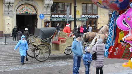 lviv : LVIV, UKRAINE - DECEMBER 10, 2015: Festivities for Christmas.