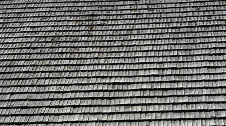 siding : Tile roof. Stock Footage