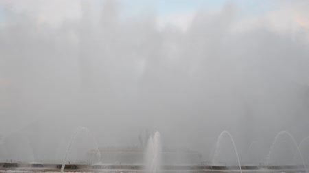 erupt : Singing Magic Fountain of Montjuic in the evening, Barcelona, ??Spain Stock Footage