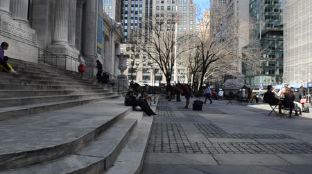 renowned : NY, USA - APRIL 5, 2014: The New York Public Library, NYPL.