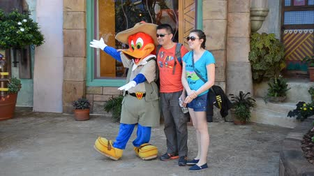 universal studios : ORLANDO, USA - MARCH 25, 2014: Woody Woodpecker character of the animated film.