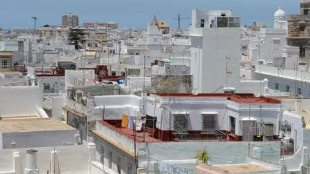 Андалусия : City of Cadiz, Spain, Andalusia. Cadiz Стоковые видеозаписи