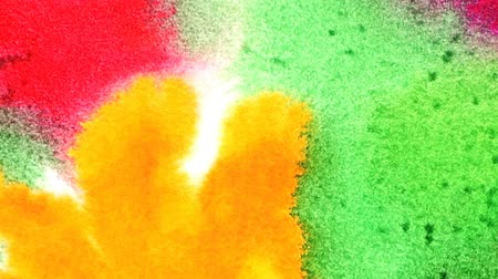 album de recortes : Punto multicolor, fondo pintado a mano abstracto acuarela Archivo de Video