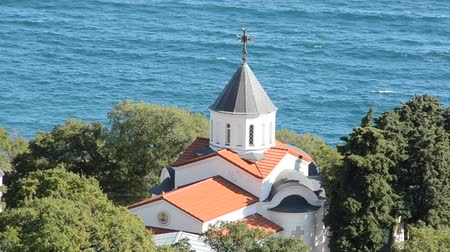 УВР : Orthodox church against the sea