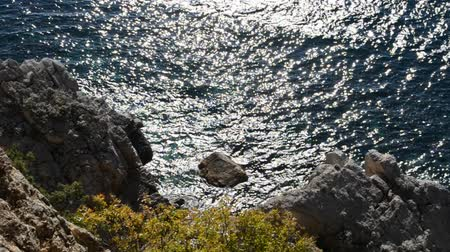 roaring : Rocks and sea. Stock Footage