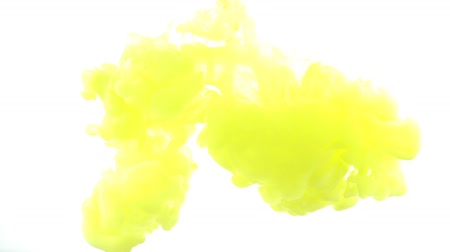puffs : Paints. Abstract forms. Shooting on a white background. Stock Footage