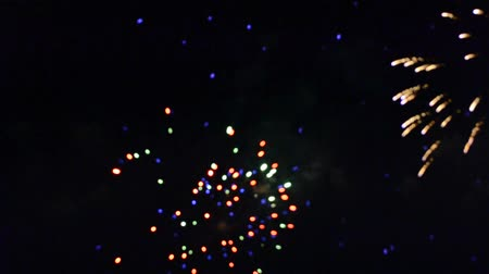 glamourous : Fireworks in the night sky.