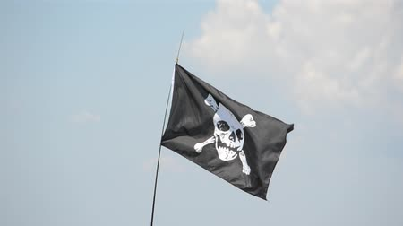 roger : Piracy flag against the sky
