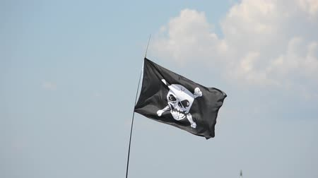pirati : Bandiera di un teschio pirata e tibie incrociate