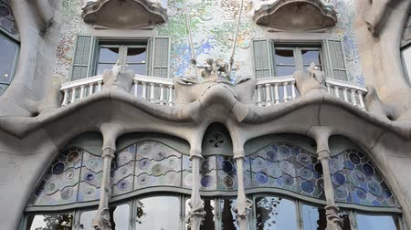 spanish style : The facade of the house of Casa Batllo. Barcelona, Spain.