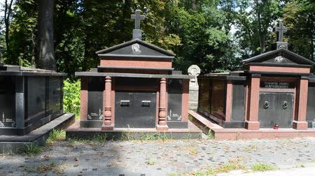 hrobky : Ancient crypts. Lviv, Ukraine. Lychakovsky cemetery (polish. Cmentarz ?? yczakowski) ??? the historical and memorial memorial estate (since 1991), one of the oldest cemeteries of Ukraine.