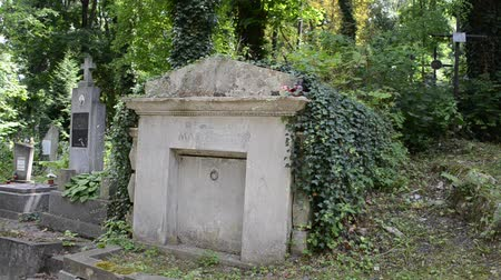 crypt : Ancient crypts. Lviv, Ukraine. Lychakovsky cemetery (polish. Cmentarz ?? yczakowski) ??? the historical and memorial memorial estate (since 1991), one of the oldest cemeteries of Ukraine.