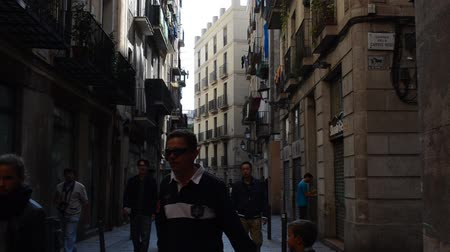 fachada : Barcelona, Gothic Quarter Stock Footage