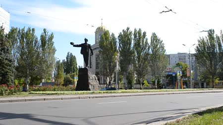 grime : DONETSK - SEPT 11: The monument to Glory to miners work in Donetsk. September 11, 2011 in Donetsk, Ukraine. The sculpture is made of pig-iron. Weight of a sculpture of 22 tons.