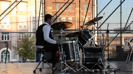 rock festival : Concert on the stage, play jazz.