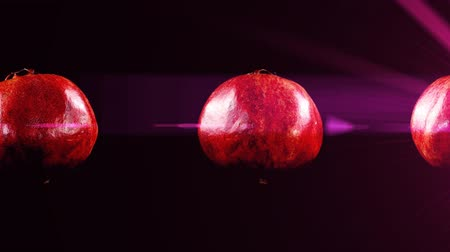 ve slupce : Pomegranate on a black background.