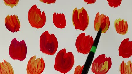 fete : Draw flowers. Time lapse. Stock Footage