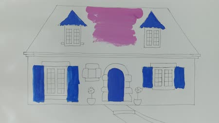 jardim : Draw the house. Time lapse.