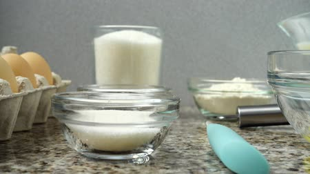 baking ingredient : Composition on preparation of dishes from eggs.