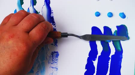 kleurplaten : The artist draws an abstract background acrylic. Background from acrylic.