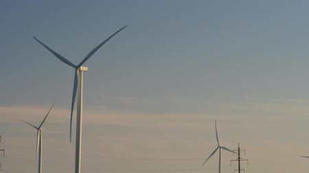clean electricity production : Wind farm. Wind turbine. Shooting of Time lapse. Stock Footage