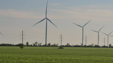 sustainable resources : Wind farm. Wind turbine.