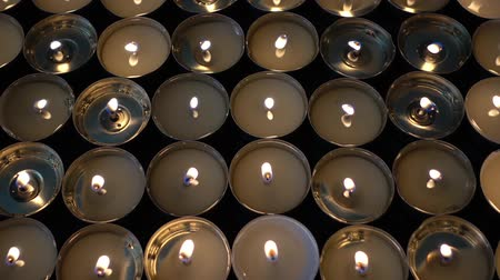 pascha : Candles on a black background.
