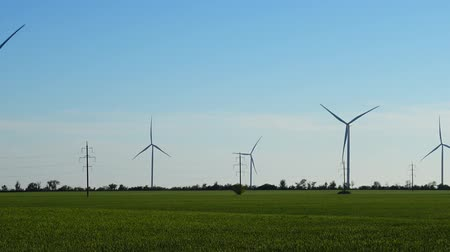 natural resource : Windmill Wind farm. Wind turbine.