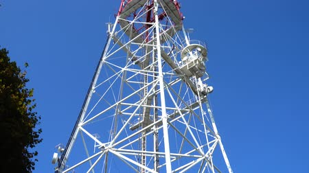 base station : Television tower against the background of the sky.