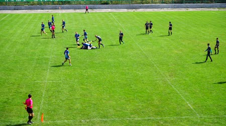 adversaire : LVIV, UKRAINE - AUGUST 30, 2019: City Rugby Cup 7.