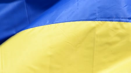 オリジナル : Flag of Ukraine waving in the wind.
