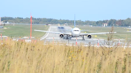 liftoff : The runway at the airport. Preparing the aircraft for takeoff.
