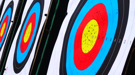 tiro com arco : Targets for archery. Shooting in the summer.