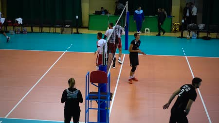 konkurenti : LVIV, UKRAINE - OCTOBER 04, 2019: Participants of Tournament Open Cup of Lviv on volleyball.