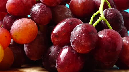macro shooting : Grapes. Shooting in the movement. Stock Footage