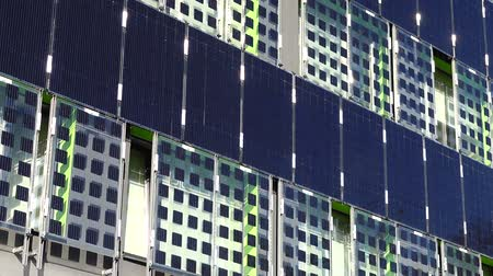 shluk : Solar panels on the building wall.