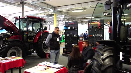 seeder : LVIV, UKRAINE - NOVEMBER 12, 2019: International Agricultural Exhibition EuroAGRO. Agricultural machinery at the exhibition.