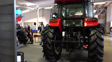 agraria : LVIV, UKRAINE - NOVEMBER 12, 2019: International Agricultural Exhibition EuroAGRO. Agricultural machinery at the exhibition.