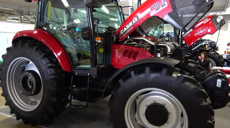 экспонат : LVIV, UKRAINE - NOVEMBER 12, 2019: International Agricultural Exhibition EuroAGRO. Agricultural machinery at the exhibition.