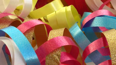 blahopřání : Multicolored serpentine and holiday background.