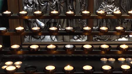 キューポラ : Votive candle. Shooting of the Catholic Cathedral. 動画素材