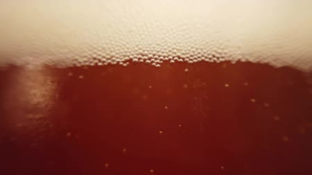 macro shooting : Beer in a glass. Shooting of macro. Stock Footage