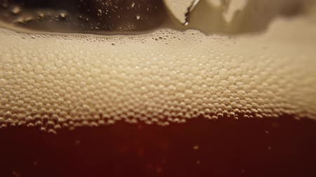taberna : Beer in a glass. Shooting of macro. Stock Footage
